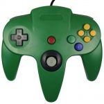 KEESIN Wired Video Gamepad Game Console Controller Joystick for Nintendo 64 N64 (Green)