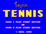Super Tennis [Sega Card] for Master System