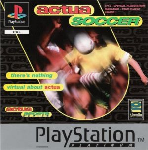 Actua Soccer [Platinum] for PlayStation