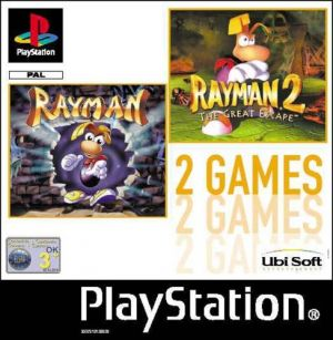 2 Games: Rayman / Rayman 2: The Great Escape for PlayStation