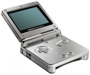 Game Boy Advance SP: Silver for Game Boy Advance