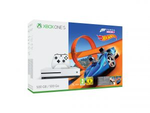 Xbox One S 500GB + Forza Horizon 3 & Hot Wheels DLC for Xbox One