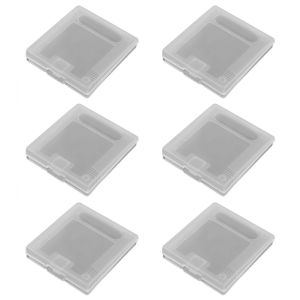 ZedLabz clear single game storage case for Nintendo Game boy original - 6 pack for Game Boy