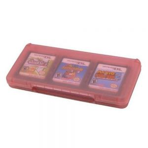 Assecure pink 6 game card holder for Nintendo 3DS, DS, DS lite, DSi & DSi XL storage box 6 in 1 for Nintendo 3DS