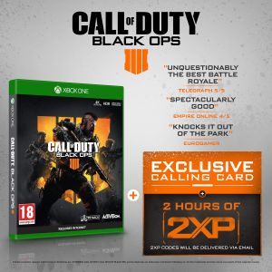 Call of Duty®: Black Ops 4 with 2 Hours of 2XP + Exclusive Calling Card [Exclusive to Amazon.co.uk] for Xbox One
