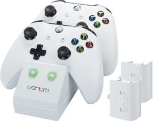 Venom Xbox One Twin Docking Station with 2 x Rechargeable Battery Packs: White (Xbox One) for Xbox One